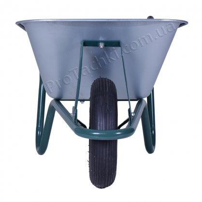 Тачка строительная «КРОК» одноколесная 85 л/160 кг оцинкованная