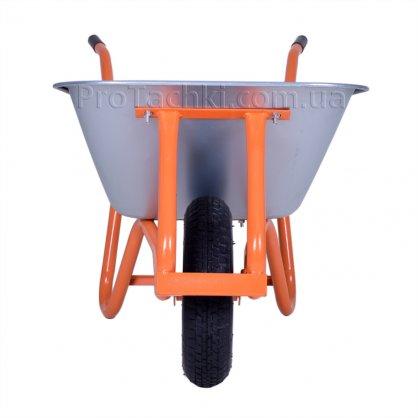 Тачка строительная «КРОК» ПРОФИ одноколесная 90 л/180 кг оцинкованная профессиональная