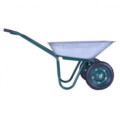 Тачка садова «КРОК» двоколісна 70 л/120 кг оцинкована