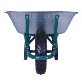 Тачка строительная «КРОК» одноколесная 70 л/150 кг оцинкованная усиленная