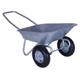 Тачка садовая «КРОК» двухколесная 65 л/100 кг оцинкованная