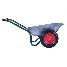 Тачка садова «КРОК» двоколісна 70 л/120 кг оцинкована посилена