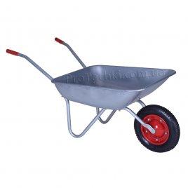 Тачка садова «КРОК» одноколісна 65 л/120 кг оцинкована